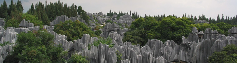 Stone Forest, near Kunming is one of geological wonders of China